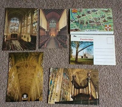 4 postcards of Cambridge University and 2 Lettercards
