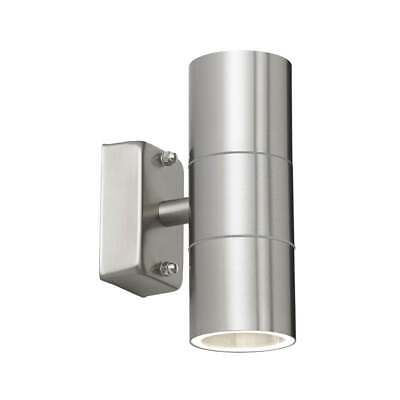 Thlc Tall Stainless Steel Outdoor Double Spotlight - Ip44 Rated