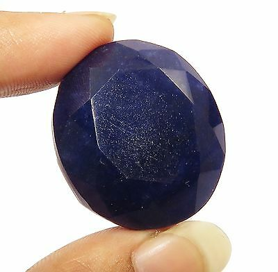 GGL Certified 87.45 Ct Natural Oval Shape Royal Blue Sapphire Faceted Gemstone