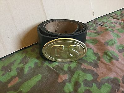 CSA American civil war enlisted mans black belt and buckle repro