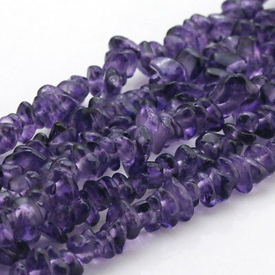 """Natural Amethyst Freeform faceted Shape Beautiful Chip Loose Beads Strand 33.5"""""""