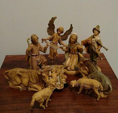 Vintage Fontanini Depose Italy (W/Spider Mark) Figurines, Lot of 9, EUC