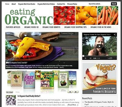 * ORGANIC FOODS *  turnkey website business for sale with AUTO UPDATING CONTENT!
