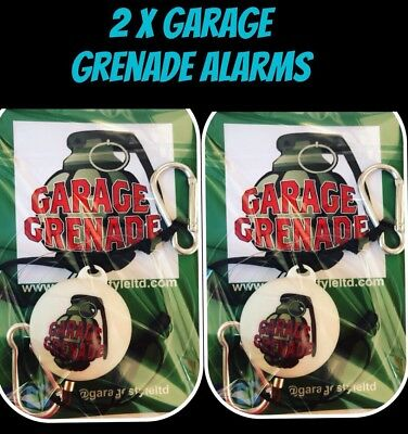2x Tact Alert Garage Grenade Trip Wire alarm system!  Shed BOOBY Trap Alarm