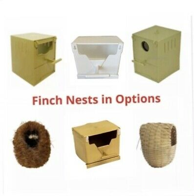 Plastic Finch Nest Box /Nest IN OPTIONS For Finches Exotics Cage Aviary Hanging