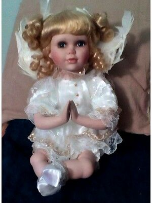 Collectible Vintage STUNNING ANGEL PORCELAIN DOLL