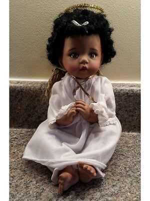 RARE Collectible Vintage ANGEL FACE Beautiful Black Baby PORCELAIN SOFT DOLL