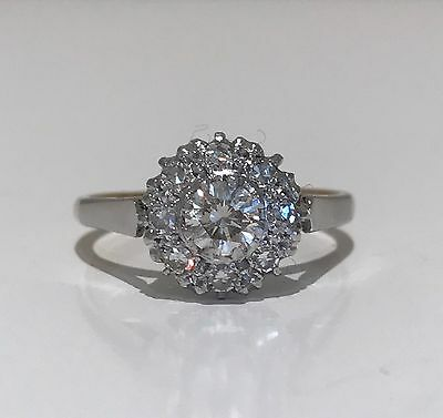 Diamond cluster ring 18k and Platinum