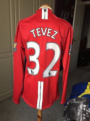 Carlos Tevez MATCH PREPARED not worn Manchester United vs Bolton 2009