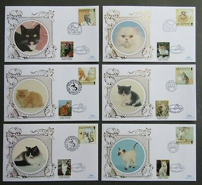 Alderney Benham Cats Kittens First Day Cover Protection League Horsham Label
