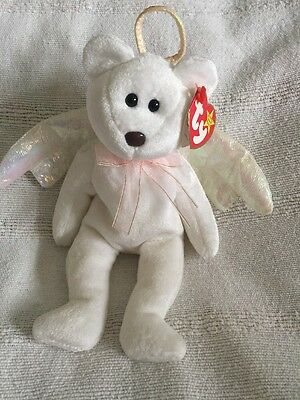 ty beanie baby Rare Halo Bear (Brown Nose & Numbered)