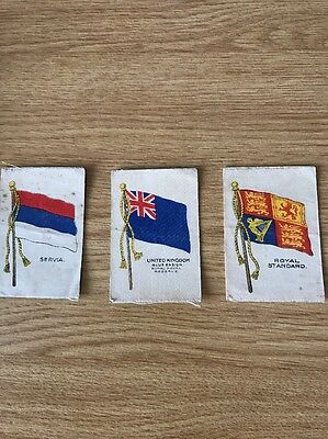 Silk Gallaher Ltd Flags Issued 1915 Poor Condition