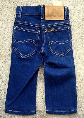 Vintage 70's 80's LEE Riders kids jeans Size 1 yellow stitch dead stock #2