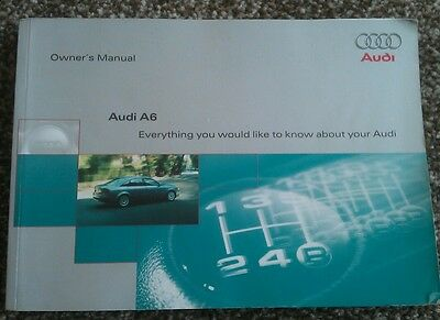 Audi A6 C5 Owners Handbook, Manuals And Wallet 1997-2001