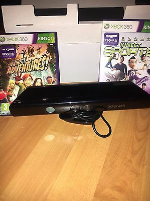 Xbox 360 Kinect & 2 Games Bundle *great Condition*