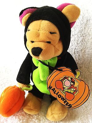 """Bnwt Rare Disney Store Winnie The Pooh Halloween Pumpkin Outfit Collectable 8"""""""
