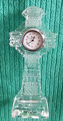 Galway Crystal Celtic Cross style clock