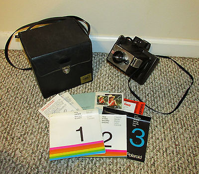 Vintage Polaroid Camera Lot Minute Maker W/ Case And Manual