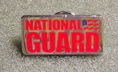 National Guard Lapel Pin With American Flag Army Air Force Patriotic Serviceman