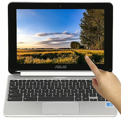 "New Asus Flip 2-in-1 Touch 10.1"" Quad Core 1.8GHz 2GB RAM 16GB SSD Chromebook"