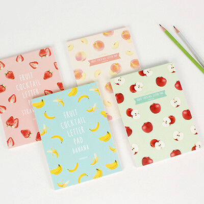 Fruit Cocktail Letter Pad Note Writing Paper Letter Gift Stationery