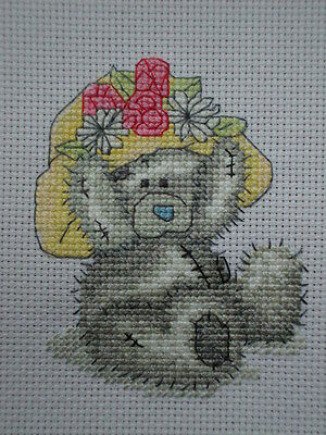 """Completed Cross Stitch Tatty Teddy """" A Sunny Day """""""