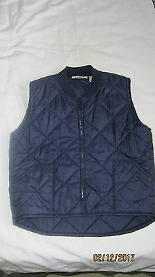 Mens Big Mac 2X Navy Quilted Work Casual Vest