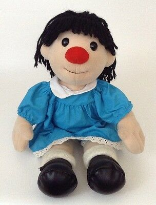 "Molly from The Big Comfy Couch 12"" Blue Dress Black Shoes Red Nose Plush Doll"