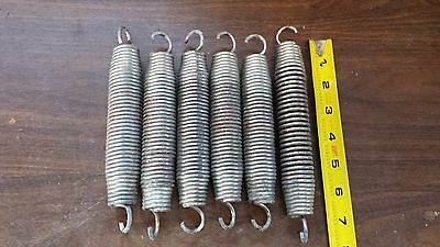 Lot Of 6 Steampunk Metal Industrial Steel Coil Art Craft Machine Age Springs