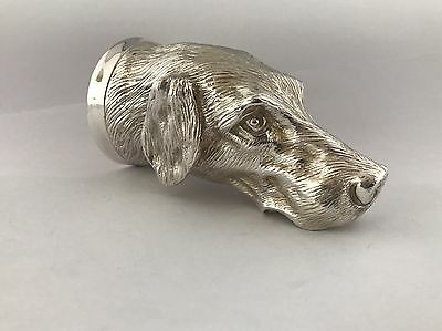 Solid Silver Heavy Cast Dogs Head Stirrup Cup 2014 London COMYNS