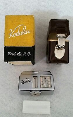 Vintage Kodalux Light Meter With Original Boxes and Paperwork Excellent