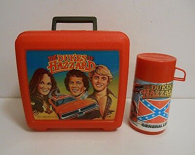 1981 Rare Dukes of Hazzard lunchbox Thermos Nr Mint Rarest Dukes Lunchbox issued