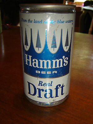 Hamm's Real Draft All Aluminum Empty Beer Can