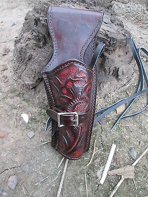 D.A.D CUSTOM LEATHER Hand Tooled Western Holster Fast Draw Brown or Black