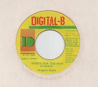 "REGGAE ❤ GREGORY ISAACS - Sorry for the man ❤  7"" Vinyl 45rpm"