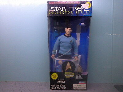 "playmates 9"" commander spock as featured in star trek the original series"