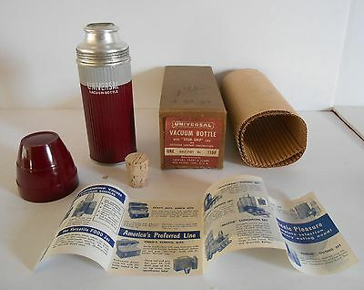 1954 Vintage Universal Lunchbox Thermos & liner Mint N.O.S W/Original boxes Wow!