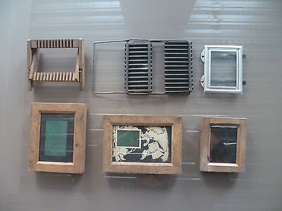 Anciens Chassis De Developpement Pour Photos ( Lot De 4 ) + Divers