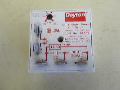 Dayton, Solid State Timer Off Delay, 6A859