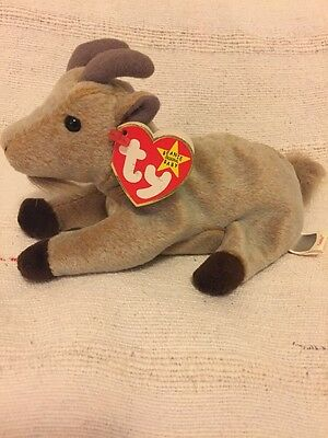 ty beanie baby Rare Goatee The Goat (misprinted Tags)