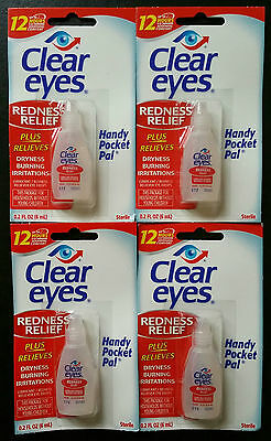 4 x Clear eyes Redness Relief Eye Drops 0.2 fl oz (6 ml)