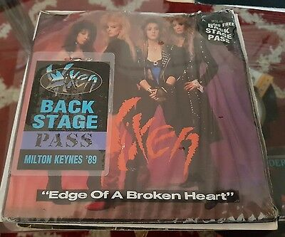 Vixen Edge of a broken heart with backstage pass sealed