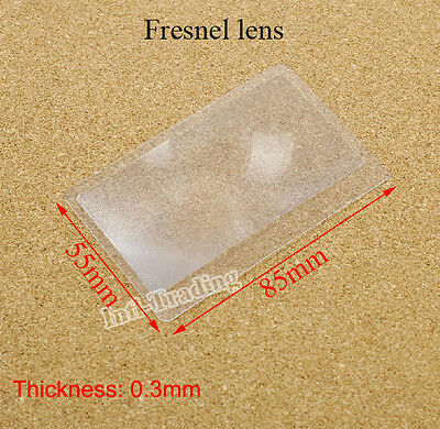 Lot of 10PCS New Credit Card 3 X Magnifier Magnification Magnifying Fresnel Lens