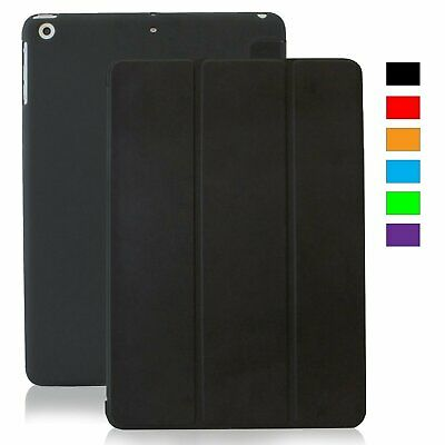 IPAD AIR 2 A1566 A1567 SMART Magnetic CASE WITH HARD BACK COVER  Black(400-501)