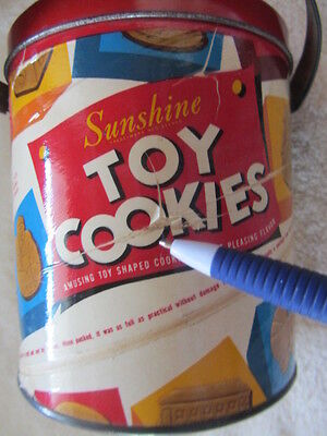 Sunshine Biscuits Toy Cookies Tin and Paper Can