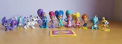 12 Shimmer and Shine Cake Toppers plus Playmat & Story