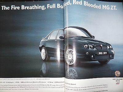 MG ZT 190+ 2001 Original A3 Size Advertisement