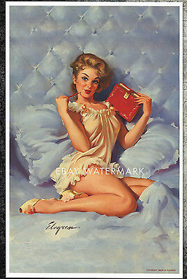 "1960's Elvgren Authentic Pin-Up Poster Art Print ""Retirement Plan"" 11x17"