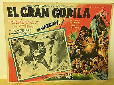 Mighty Joe Young El Gran Gorila Mexican Lobby Card Rare Great Design 1949