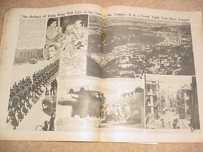 Fall of Hong Kong, and threat To Singapore. China Original WW2 Magazine  10.1.42